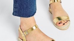 13 sandales dorées pour