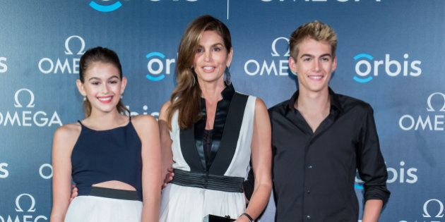 HONG KONG - JUNE 16: Supermodel and OMEGA Ambassador Cindy Crawford poses with her daughter Kaia Gerber,...