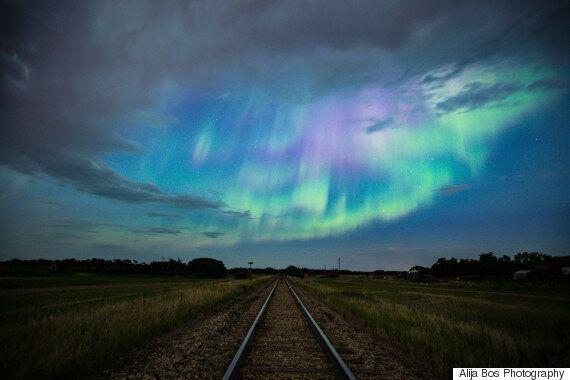 De splendides aurores boréales ont accueilli l'été