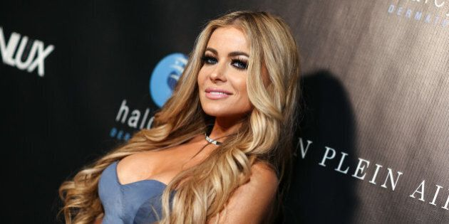 Carmen Electra attends the Genlux OC Issue Release Party held at Halcyon Dermatology on Saturday, Aug. 22, 2015, in Laguna Hills, Calif. (Photo by John Salangsang/Invision/AP)