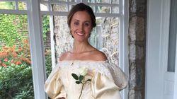 La robe de cette mariée est devenue virale et le futur marié ne l'a toujours pas vue