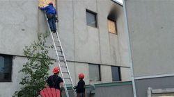 Évaluation des dommages à l'hôpital de Montmagny