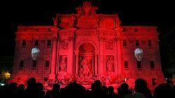À Rome, la Fontaine de Trevi en rouge pour symboliser le sang des chrétiens persécutés