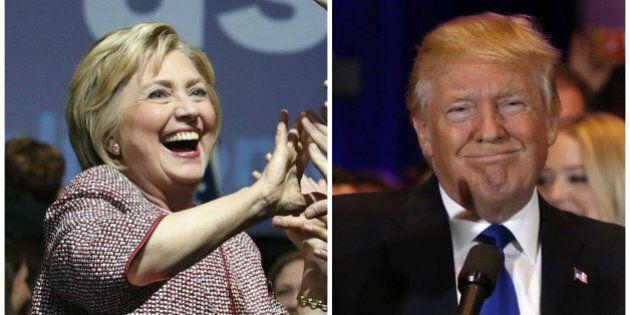 «Super mardi» des primaires: Hillary Clinton et Donald Trump se rapprochent du
