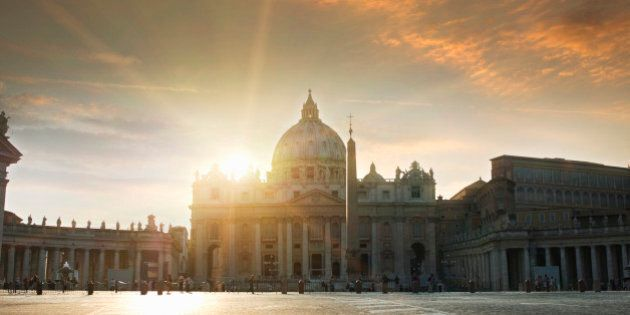 St Peters Square, Vatican, Rome,
