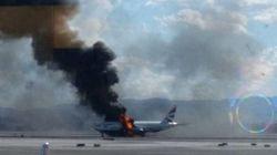 Un avion prend feu à l'aéroport de Las Vegas: deux blessés