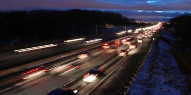 January 6, 2010 Traffic traveling West bound on highway 401west of Mavis Drive. Picture was taken from...