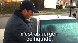 Dégivrez les vitres d'une voiture en quelques secondes