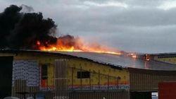 Le nouveau terminal de l'aéroport d'Iqaluit est en flammes
