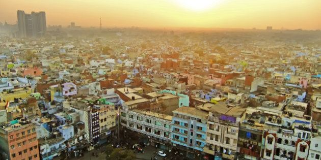 View of Delhi from Jama Masjid, India