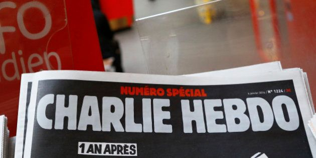 A special edition of the satirical newspaper Charlie Hebdo that marks one year