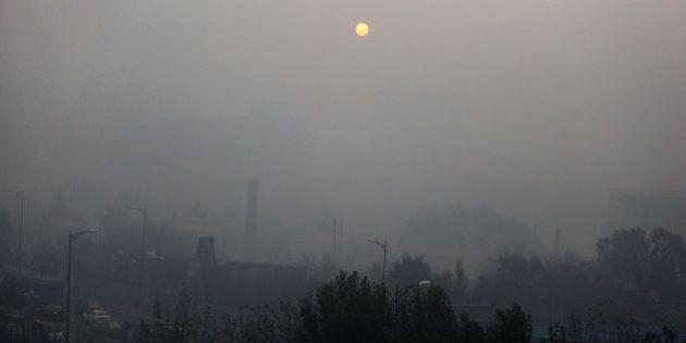HARBIN, CHINA - NOVEMBER 03: (CHINA OUT) Heavy smog hangs over the sky on November 3, 2015 in Harbin,...