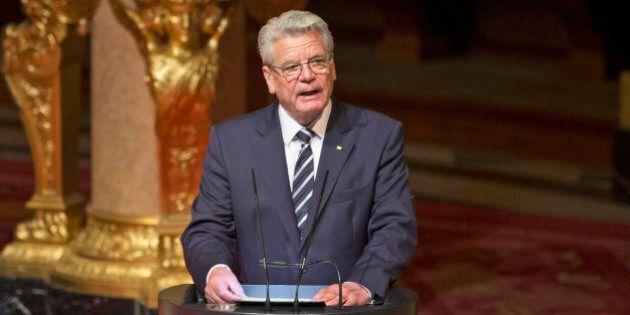 BERLIN, GERMANY - APRIL 23: German President Joachim Gauck speaks at an ecumenical religious service...