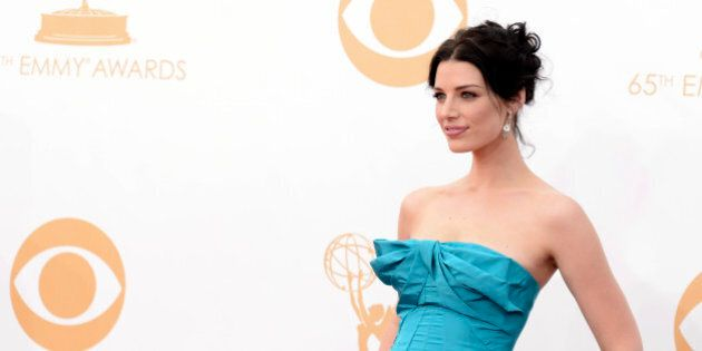 Actress Jessica Paré arrives at the 65th Primetime Emmy Awards at Nokia Theatre on Sunday Sept. 22,...