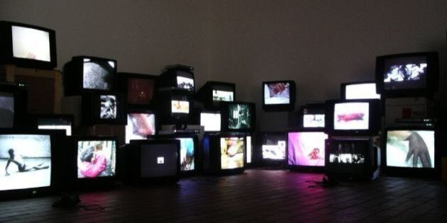 Exibition by Douglas Gordon that was at the Miro Foundation in
