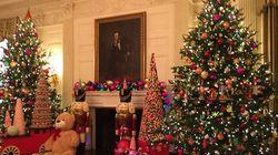 Découvrez l'intérieur de la Maison-Blanche à Noël