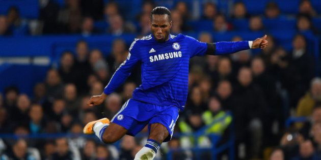 LONDON, ENGLAND - DECEMBER 03:  Didier Drogba of Chelsea in action during the Barclays Premier League match between Chelsea and Tottenham Hotspur at Stamford Bridge on December 3, 2014 in London, England.  (Photo by Shaun Botterill/Getty Images)