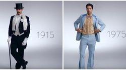 Voyez 100 ans de looks masculins du Jour de l'an en trois minutes
