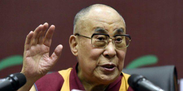 NEW DELHI, INDIA - JANUARY 21: Tibetan spiritual leader Dalai Lama, during the country's business women...