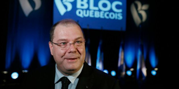 Mario Beaulieu smiles after being named the new leader of the Bloc Quebecois in Montreal, June 14, 2014....
