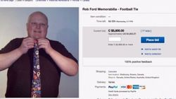 Rob Ford vend «la cravate du crack» pour 1445