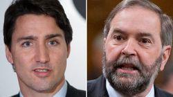 Mulcair et Trudeau visent le vote