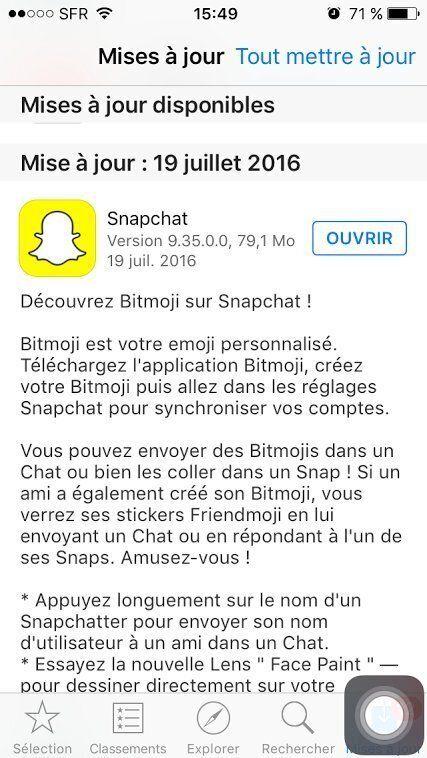 Avec Bitmoji intégré à Snapchat, vous pouvez envoyer des emoji à votre effigie sur