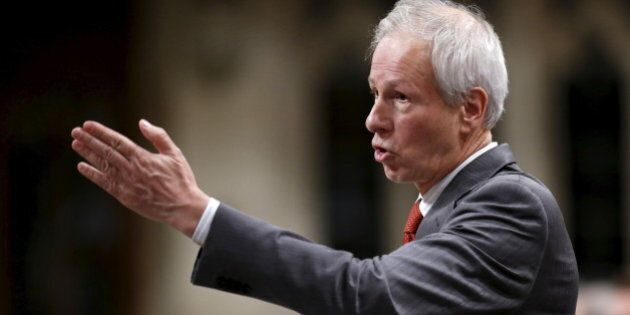 Canada's Foreign Minister Stephane Dion speaks during Question Period in the House of Commons on Parliament...