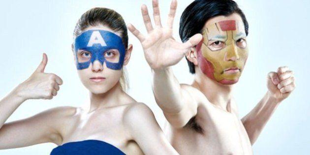 Des masques de beauté Ironman et Captain America