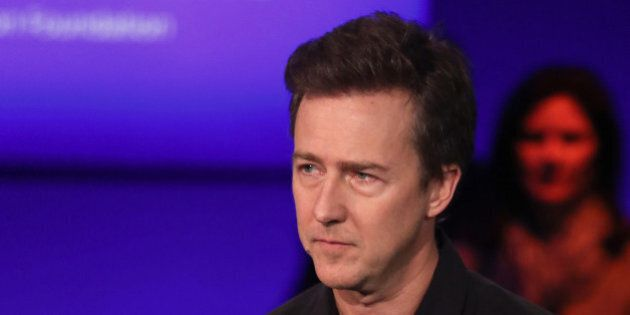 CNBC EVENTS -- Pictured: Edward Norton in a panel discussion at the Clinton Global Initiative Annual...