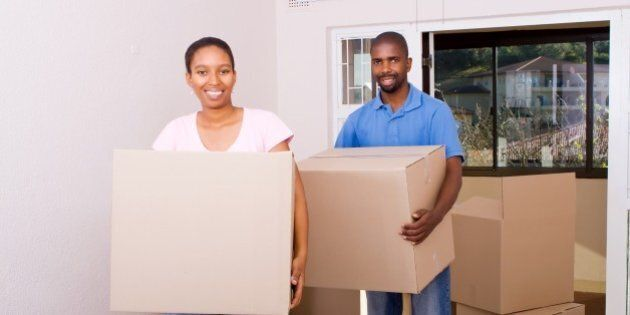 african american coule moving