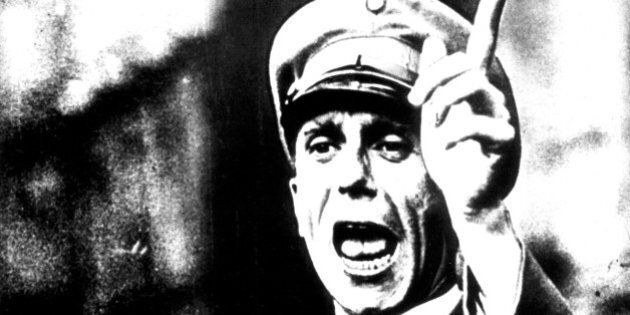 Portrait of Goebbels, 20th century, Germany. (Photo by: Photo12/UIG via Getty Images)