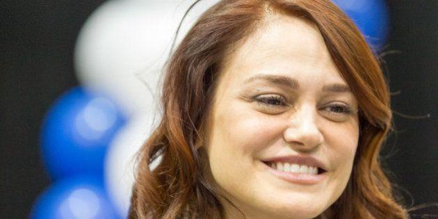 La comédienne Lucie Laurier en deuil de son