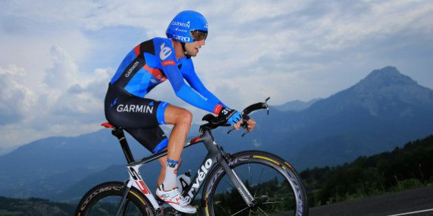 CHORGES, FRANCE - JULY 17: Ryder Hesjedal of Canada riding for Garmin-Sharp competes during stage seventeen...