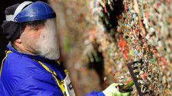 Seattle nettoie son célèbre mur de