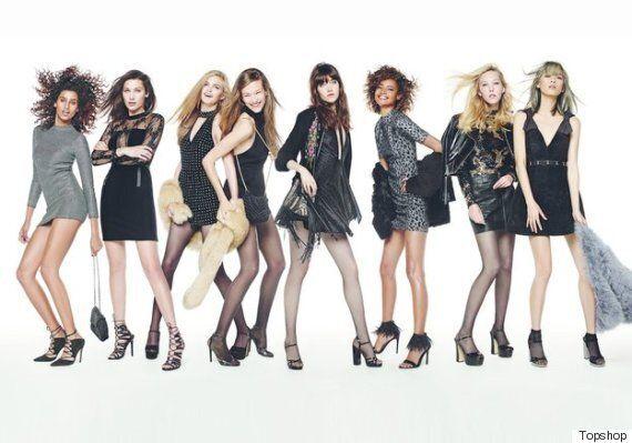 La campagne de Noël de Topshop réunit parmi les plus belles mannequins au monde