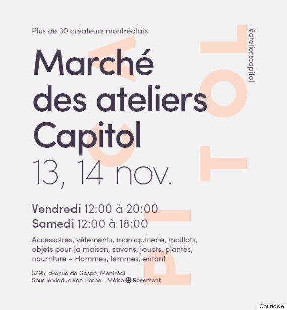 Mode: le Marché des ateliers Capitol est de retour les 13 et 14
