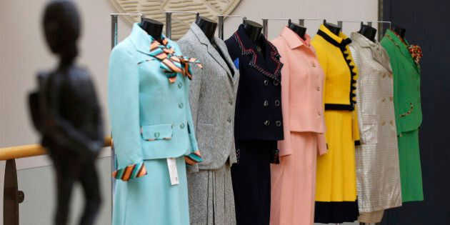 FILE - This is a Thursday, Aug. 30, 2012 file photo of the business suits of former British Prime Minister...