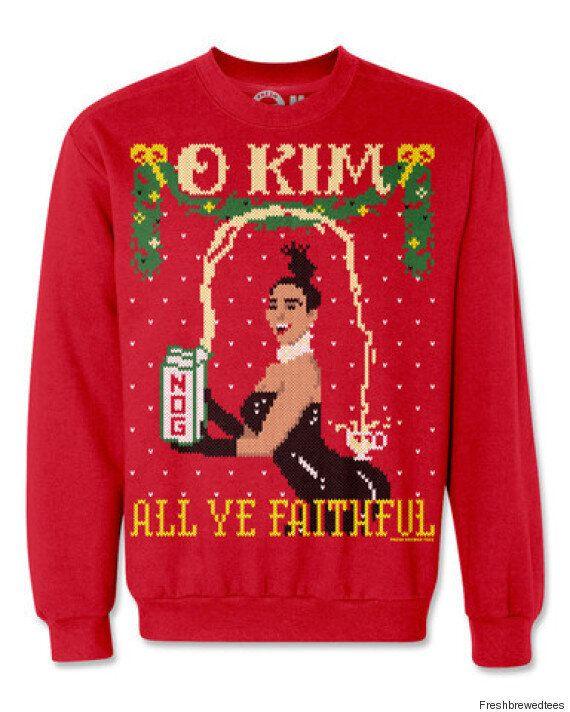 Des chandails de Noël à l'effigie du couple Kardashian-West