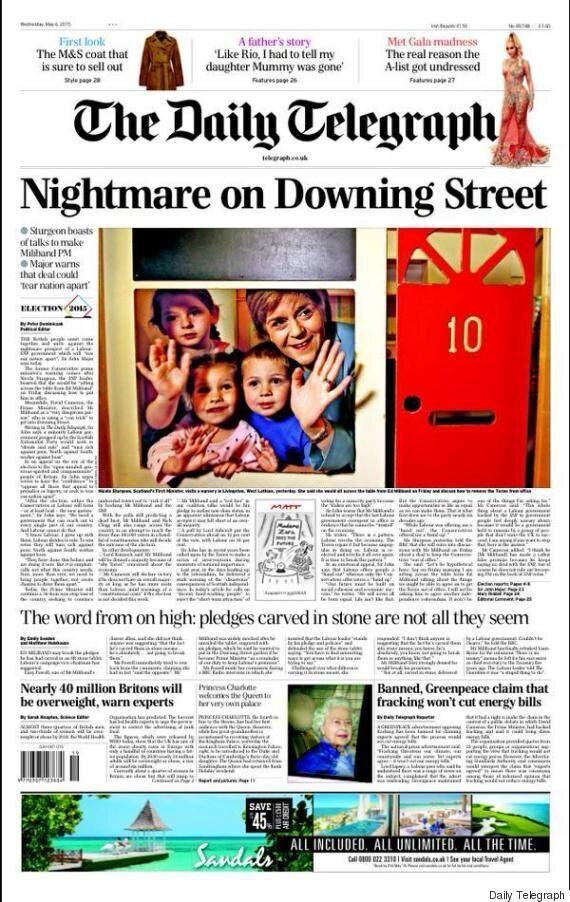 Élections en Grande-Bretagne: les «unes» franchement partisanes de la presse britannique à la veille...