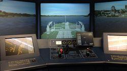 Pas facile de piloter des navires sur le fleuve
