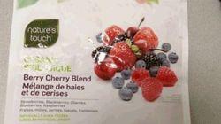 Hépatite A: rappel d'un mélange de fruits congelés Nature's