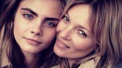 Cara Delevingne et Kate Moss publient des clichés osés sur Instagram