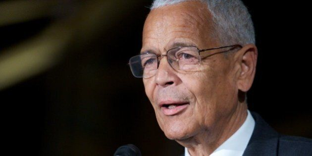 WASHINGTON, DC - JANUARY 20: Julian Bond speaks at The 2013 Peace Ball: Voices of Hope And Resistance...