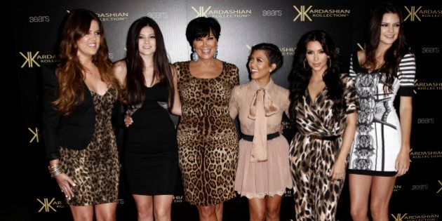 From left, Khloe Kardashian, Kylie Jenner, Kris Jenner, Kourtney Kardashian, Kim Kardashian, and Kendall...