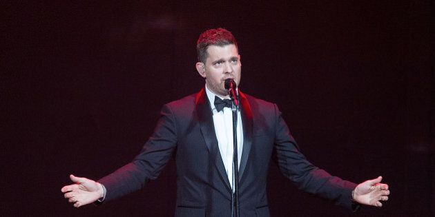 AUSTIN, TX - AUGUST 03:  Singer-songwriter Michael Bublé performs in concert at the Frank Erwin Center on August 3, 2014 in Austin, Texas.  (Photo by Rick Kern/WireImage)