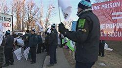 Manifestation des agents en services correctionnels à