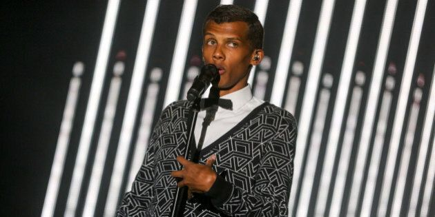 Stromae performs at the 2015 Coachella Music and Arts Festival on Sunday, April 19, 2015, in Indio, Calif....