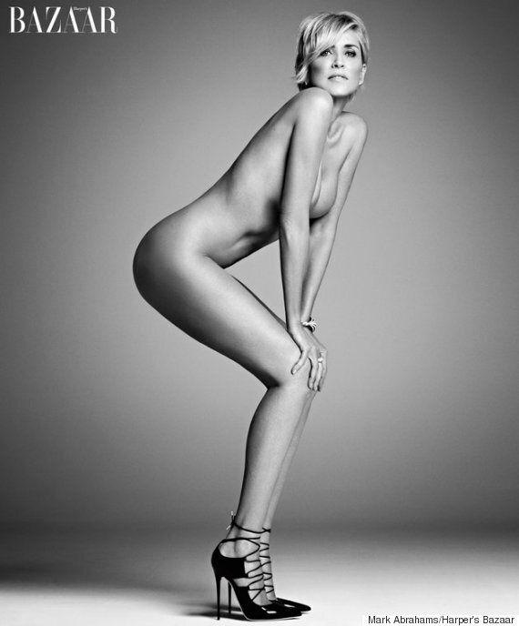 Sharon Stone nue pour le Harper's Bazaar