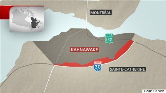 Les Mohawks de Kahnawake prennent possession de terres qui font l'objet d'un